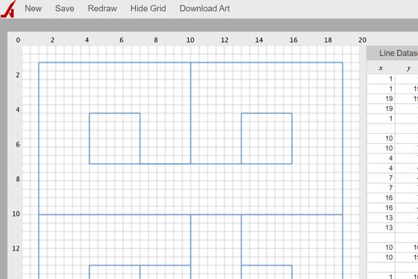 Artplotty Grid 21 online drawing tool