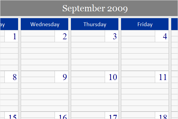 Ultimate monthly calendar for Microsoft Excel