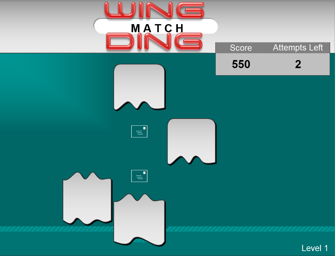 First level of Wingding Match