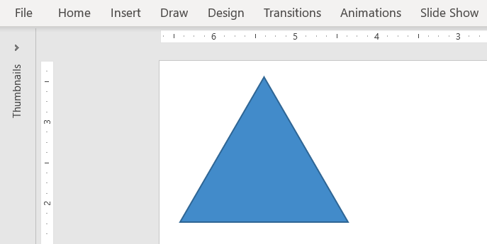 Insert a shape in PowerPoint - Quick tip