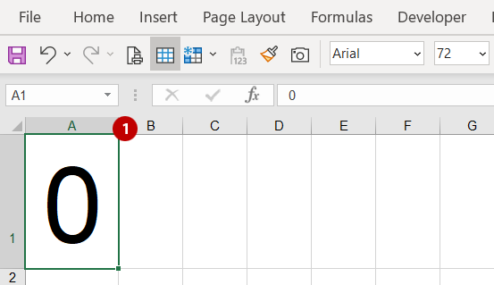 The numbers one and zero - steps to test 1 and 0 in Excel
