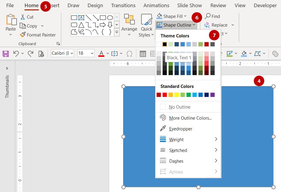 Add a border and remove the fill color