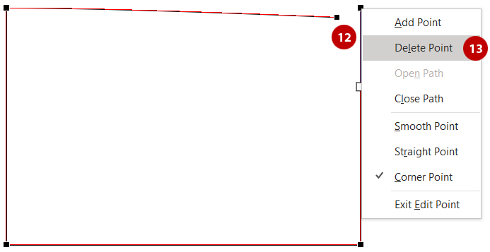 Quickly create a perpendicular arrow - Delete the open points