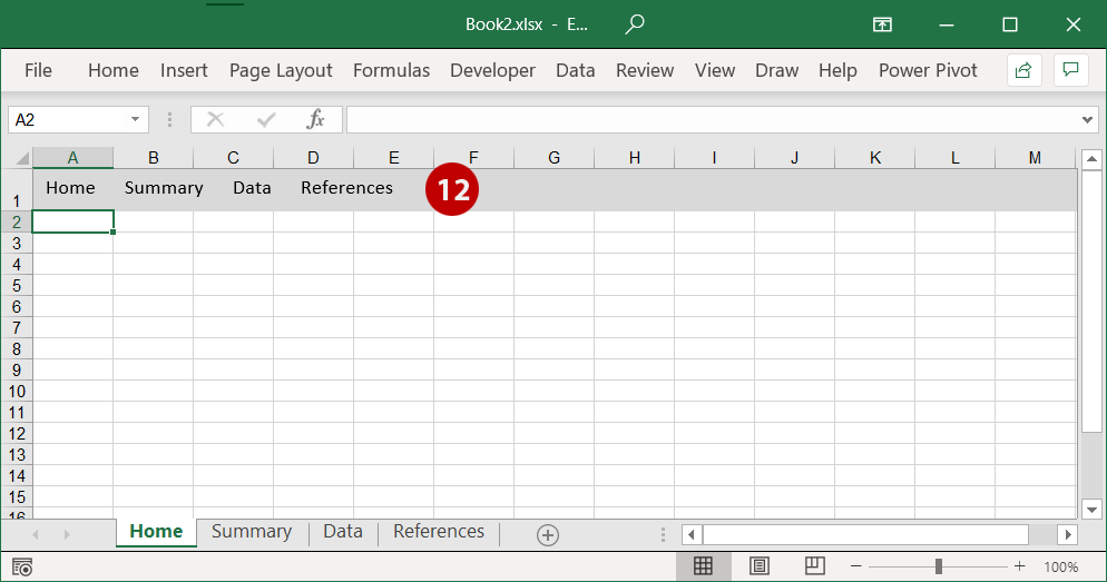 Move the textboxes to the top of the sheet, right in front of the background row.
