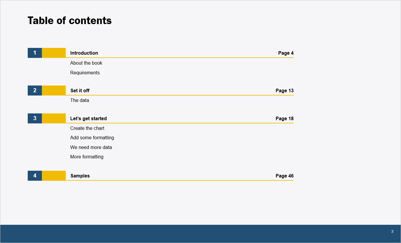 Table of contents for mekko.